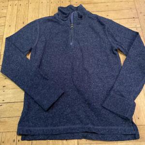 EUC Crewcuts J.Crew Boys 1/4 Zip Heather Blue Sweater Sweatshirt Size 10