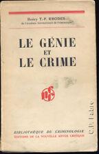 HENRY T.F. RHODES, LE GÉNIE ET LE CRIME (SUR VÉLIN)