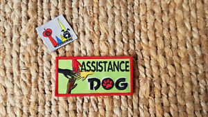 NEW assistance dog patch K9 Embroidered iron on green