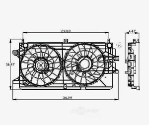 Radiator And Condenser Fan Assy TYC 621360