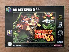 Nintendo 64: DONKEY KONG 64 incl. Expansion Pak, PAL-Version in orig. packaging