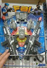 Set polizia fbi 2 mitra binocolo radio kit gioco di qualità giocattolo toy