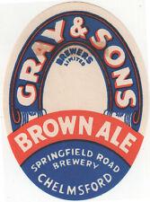 UK Chelmsford_GRAY & SONS_BROWN ALE_BEER_CRISP UNUSED_Springfield Road Brewery