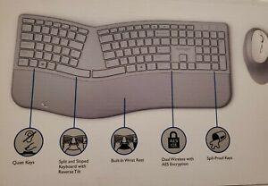 Kensington Pro Fit Ergonomic Wireless Keyboard & Mouse - Grey K75407US SEALED