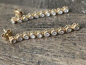 Ohrringe Ohrstecker  20 Diamanten , Gelbgold 585 14 Karat, neuwertig