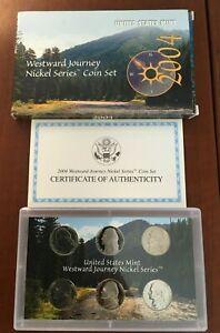 2004 United States Mint Westward Journey Nickel Series Coin Set