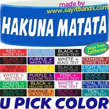 Hakuna Matata Wristband One Inch Bracelet Problem Free Philosophy Fun Wrist Band