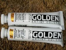 Golden Acrylics 2-ounce 2 tubes Paint Iridescent Bright Gold Fine