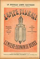 large advert for la nouvelle lampe electrique .  from  le rire dated 1901
