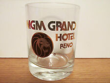 VINTAGE    MGM GRAND HOTEL,  RENO        SHORT SHOT GLASS / TOOTH PICK HOLDER