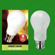 8x 9W Basse Consommation économie d'énergie LCF Mini ampoules phare GLS,BC,B22,