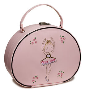 Girls Pink Ballet Ballerina Dance Hand Case Bag By Katz Christmas Birthday KB39