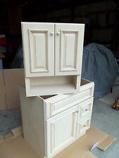 Cream Maple Bathroom Vanity Cabinet 30x21 and Wall Cabinet 21x26