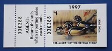 U.S. (NH15h) 1997 New Hampshire State Duck Stamp with tab (MNH)