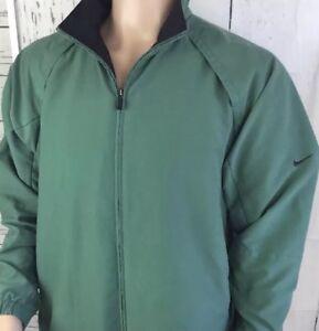 Nike Golf Jacket Full Zip Athletic Coat Clima-Fit INTERNATIONAL #1 Logo Men Sz L