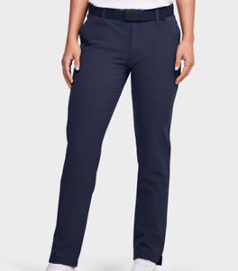 NWT$70 Under Armour Golf Women's UA Links Pants Blue 1272344