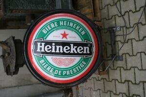 Werbung  Reklame Blechbuchstabe Leuchtreklame Heineken