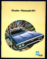 Prospectus brochure 1971 CHRYSLER PLYMOUTH * Barracuda * Duster * Satellite (USA)
