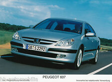 Peugeot 607 Werksfoto IAA 2003 13x17,8 cm Foto photo Auto PKWs Frankreich Europa