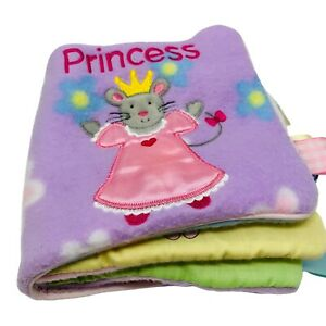 My First Taggies Princess Soft Plush Baby Book Animals Tags Lovey Toy Washable