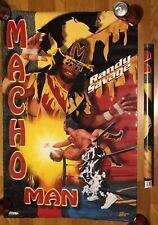VINTAGE MACHO MANRANDY SAVAGE POSTER 1995 LJN HASBRO WRESTLING WWE WWF WCW NWO