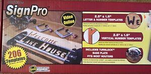 Minescraft Router SignPro 1212 206 Templates Handy Woodworker