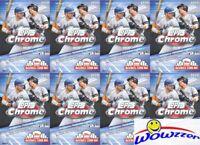 (8) 2020 Topps Chrome Baseball Factory Sealed HANGER Box-Topps Update Previews!