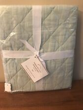 1 POTTERY BARN BELGIAN FLAX LINEN DIAMOND MINT GREEN SHAM EURO