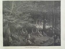 Gustave Dore London A Pilgrimage Under Trees Regents Park Engraving 1872