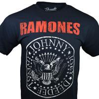 Ramones Mens Tee T Shirt S M L XL Hey Ho Rock Band Music Classic Vintage Black