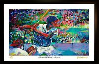 SALE HANK AARON L.E. 53/199 PREMIUM ART PRINT SIGNED BY ARTIST TO STARS, WINFORD