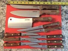 Farberware Professional Series Millennium 11 Piece Knife Set 3 Rivet Wood Handle