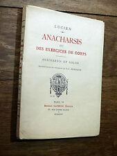 Lucien ANACHARSIS OU LES EXERCICES DU CORPS 1927 Éd. Glomeau ill. coul. Manceaux