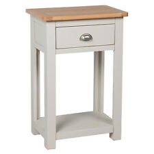Sutton Grey Painted Small Console Table Oak / Hallway / Solid Wood / Telephone