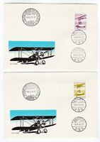Hungary FDC 1988 Airmail Historical Aeroplanes Magyar Posta first day covers X 2