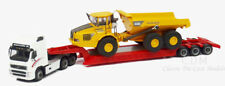 Cararama 1/87 HO Volvo FH12 w/3 Axle Lowboy and Volvo A40D Articulated Hauler