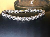 """Vintage 999 silver bracelet. Made in USA. 7.5"""""""