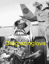 """""""Moon Eyes"""" Vintage Blown """"Moon"""" Top Fuel Dragster '60s PHOTO!"""