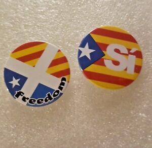 Catalonia / Scotland Independence badges