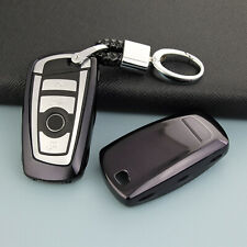 Key Fob Chain For BMW 1 2 3 4 5 6 7 Series X3 X4 Keychain Ring Case Cover Black