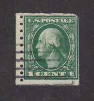 United States stamp #412, used, coil, perf 8.5 vertically,  SCV $40.00