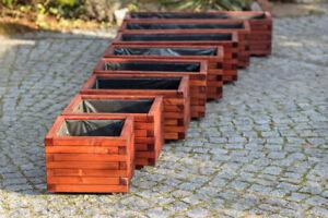 Larisa Braune Imprägnierte Holz Blumenkasten mit oder ohne Wasserablauf