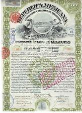 Mexico: Republica Mexicana 1907 Estado de Tamaulipas  not Cancelled / Coupons