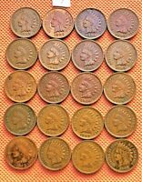 1899-1908 INDIAN HEAD CENTS, PENNY, 20 HIGH GRADE COINS #7