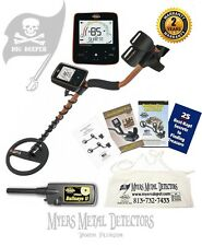 "Whites TreasurePro Metal Detector,10""DDWaterproof Coil, Bullseye 2 +Apron & Hat"