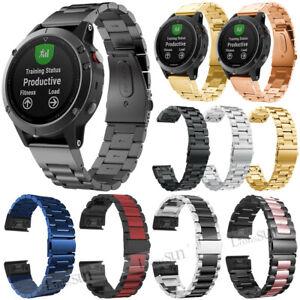 Quick Stainless Steel Watch Band Strap For Garmin Fenix 6 6X Pro Solar Sapphire