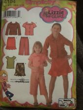 Simplicity pattern 4104 girls top, skirt, cropped pants & jacket uncut 7-14