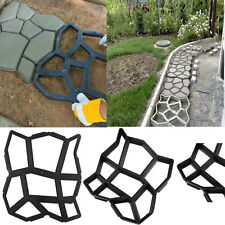 Best Driveway Paving Pavement Mold Patio Concrete Stepping Stone Walk Maker DIY