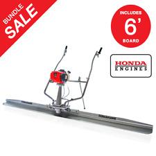 Power Screed Float 6 Ft Blade Gas 18hp Honda Vibrating Concrete Finishing Tool