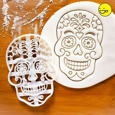 Floral Skull cookie cutter | Day of the Dead Halloween Flowers All Souls' skulls